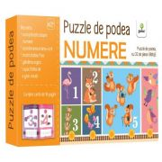 Puzzle de podea. Numere