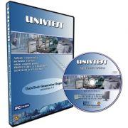 UnivTest Generator Express. Aplicatie componenta a pachetului Univtest, solutie completa pentru proiectarea si utilizarea testelor de evaluare. CD - Licenta multi-user
