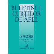 Buletinul Curtilor de Apel nr. 8-9/2018