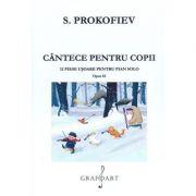 Cantece pentru copii. 12 piese usoare pentru pian solo. Opus 65 - Serghei Prokofiev