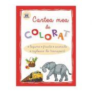 Cartea mea de colorat. Legume, Fructe, Animale, Mijloace de transport