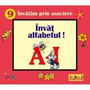 Carti pliate cu ferestre. Invatam prin asociere - Invat alfabetul! A - I