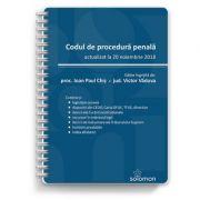 Codul de procedura penala actualizat la 20 noiembrie 2018 - IOAN PAUL CHIS, VICTOR VADUVA