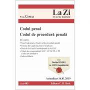 Codul penal si Codul de procedura penala. Cod 685. Actualizat la 16. 01. 2019