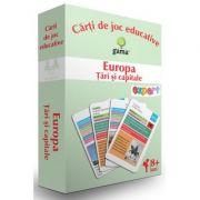 Europa. Tari si capitale. Carti de joc educative