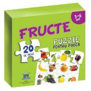Fructe. Puzzle pentru podea 3-6 ani