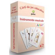 Instrumente muzicale. Carti de joc educative