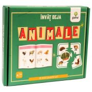 Invat deja animale. 8 mini-puzzle-uri