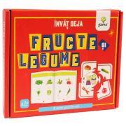Invat deja fructe si legume. 8 mini-puzzle-uri