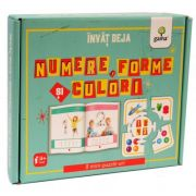 Invat deja numere, forme si culori. 8 mini-puzzle-uri