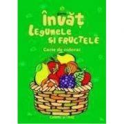 Invat legumele si fructele - Carte de colorat A5