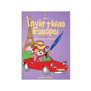 Invat tarile Europei - Carte de colorat A5