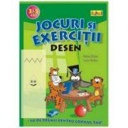 Jocuri si exercitii - Desen 3 - 5 ani - Rodica Cislariu, Lucica Nicolau