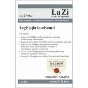 Legislatia insolventei. Cod 681. Actualizat la 19. 11. 2018