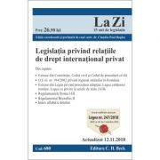 Legislatia privind relatiile de drept international privat. Cod 680. Actualizat la 12. 11. 2018