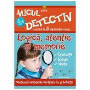 Micul detectiv rezolva in 5 saptamani cazul - Logica, atentie si memorie 3-4 ani