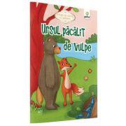 Povesti de colorat cu sabloane - Ursul pacalit de vulpe