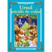 Povesti de citit si colorat - Ursul pacalit de vulpe