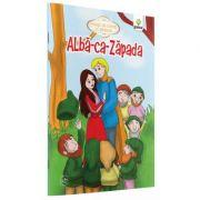 Povesti de colorat cu sabloane - Alba-ca-Zapada