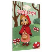 Povesti de colorat cu sabloane - Scufita Rosie