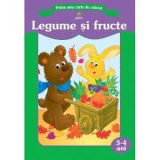 Prima mea carte de colorat - Legume si fructe