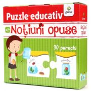 Puzzle educativ. Notiuni opuse