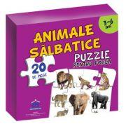 Puzzle pentru podea. Animale salbatice, 3-6 Ani
