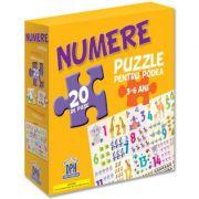 Puzzle pentru podea. Numere, 3-6 ani