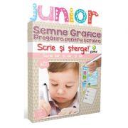 Scrie si sterge! Junior. Semne grafice. Pregatire pentru scriere