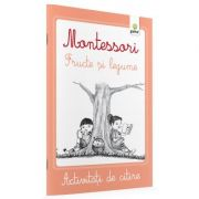 Activitati de citire Montessori - Legume si fructe