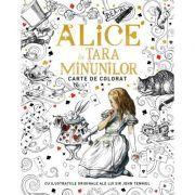 Alice in tara minunilor. Carte de colorat. Cu ilustratiile originale ale lui Sir John Tenniel