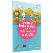 Carte de colorat cu activitati. Cuvinte in limba engleza