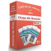Carti de joc educative. Orase din Romania