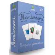 Corpuri geometrice. Carti de joc Montessori clasificare