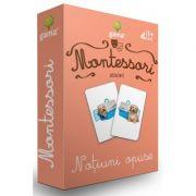 Carti de joc Montessori. Notiuni opuse
