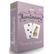Carti de joc Montessori. Urme de animale