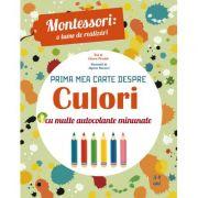 Montessori - o lume de realizari. Prima mea carte despre culori. Carte cu autocolante
