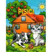 Pisici. Carte de colorat