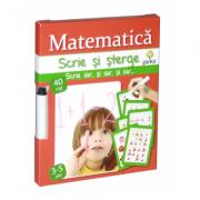Scrie si sterge - Matematica 3-5 ani