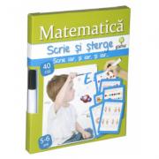 Scrie si sterge - Matematica 5-6 ani