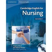 Cambridge: English for Nursing Intermediate Plus - Student's Book (with Audio 2x CDs)