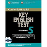 Cambridge: Key English Test 5 - Self Study Pack (Student's Book with answers and Audio CD)
