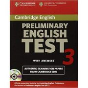 Cambridge: Preliminary English Test 3 - Self-study Pack: Examination Papers from the University of Cambridge ESOL Examinations