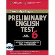 Cambridge: Preliminary English Test 6 - Self Study Pack (Student's Book with answers and 2x Audio CDs)
