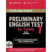 Cambridge: Preliminary English Test for Schools 1 - Self-study Pack (Student's Book with Answers with 2xAudio CDs)