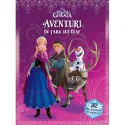 Disney: Regatul de Gheata, Aventuri in Tara lui Olaf, 32 de Planse de Colorat