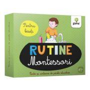 Rutina zilnica. Montessori pentru baieti. Cartoane de perete educative si decorative