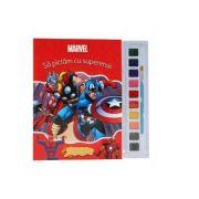 Sa pictam cu supereroii. Carte de colorat cu pensula si acuarele - Disney
