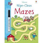 Usborne Books, Wipe-clean Mazes, Activitati extracurriculare, 3 ani + (Editie ilustrata)