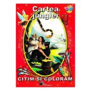 Cartea junglei - Citim si coloram